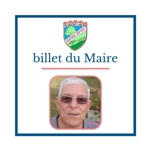 Billet du Maire - M. BOBO - Commune de Barisis aux Bois
