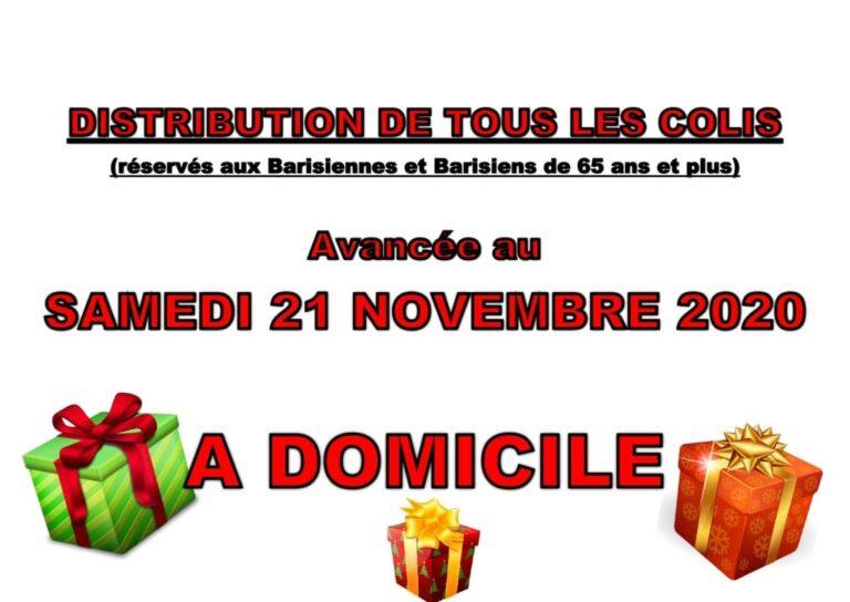 Distribution des colis Mairie de Barisis Aux Bois