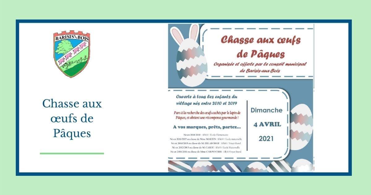 Chasse aux oeufs de Pâque - Mairie de Barisis aux Bois