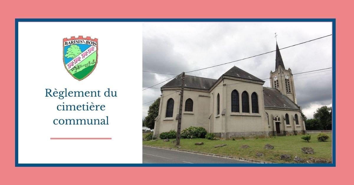 Règlement cimetière _ commune de Barisis aux Bois