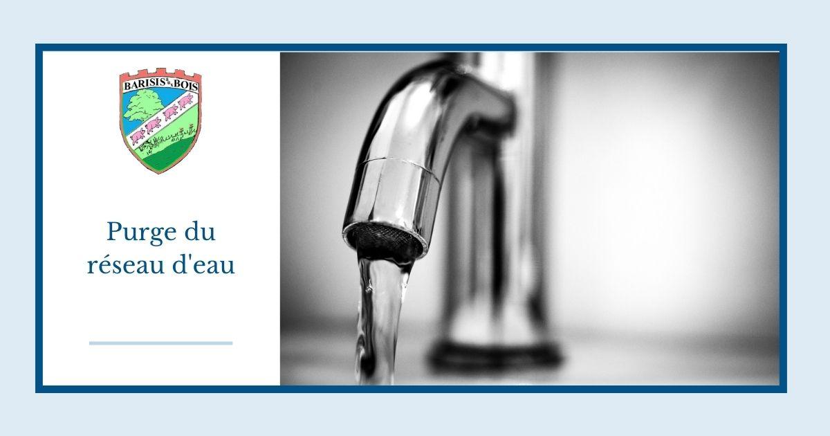 purge du réseau d'eau - Commune de Barisis aux Bois Facebook