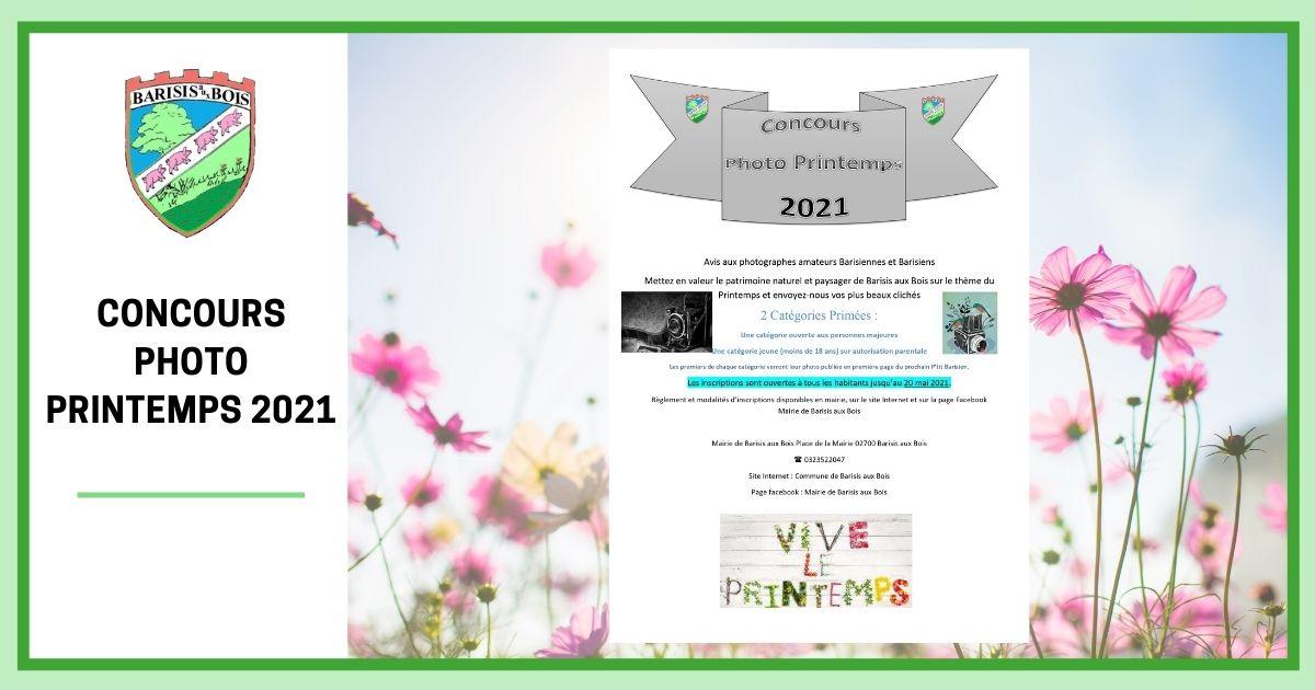 Concours Photo Printemps 2021 - Commune de Barisis Aux Bois